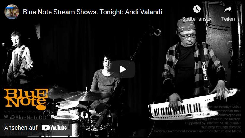 Andi Valandi & Band, Blue Note, Dresden, 2020